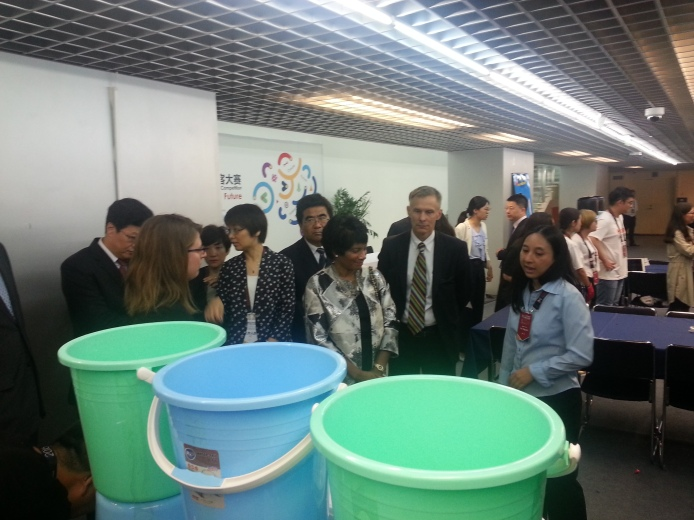 Explaining project to VP of Intel and US Ambassador to China